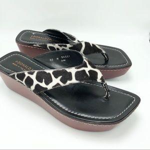 Donald J. Pliner Giraffe Print Sandals